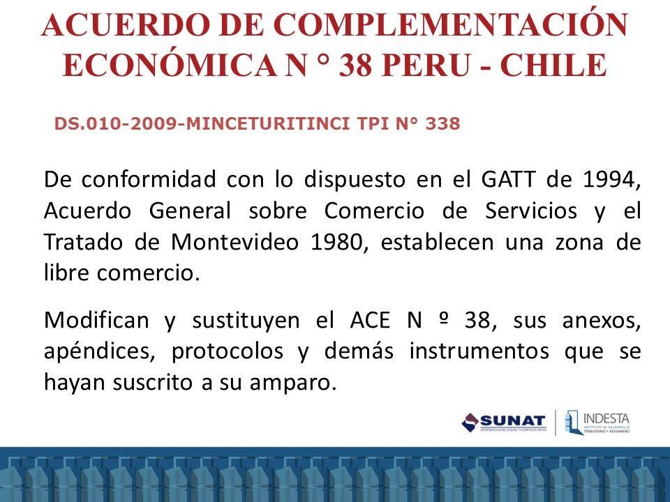 De conformidad con lo dispuesto en el GATT de 1994, Acuerdo General sobre Comercio de Servicios y el Tratado de Montevideo 1980, establecen una zona d