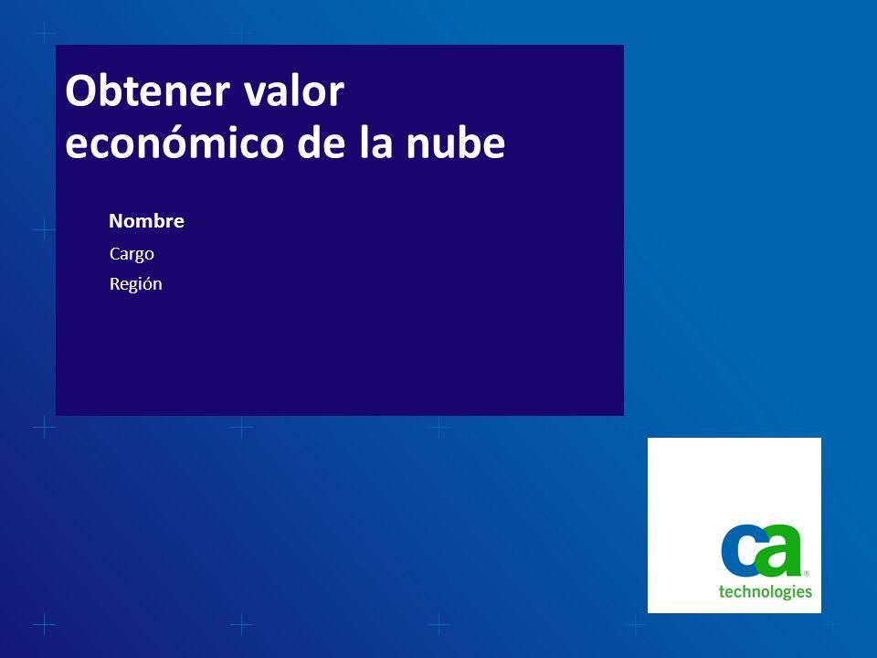 Obtener valor económico de la nube Nombre Cargo Región