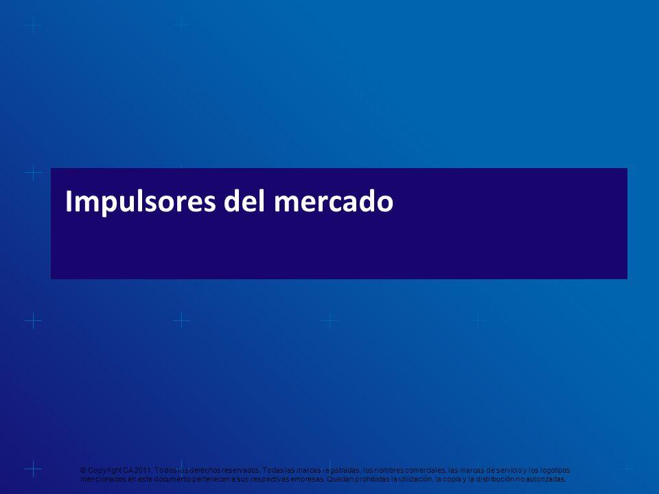 Impulsores del mercado © Copyright CA 2011. Todos los derechos reservados. Todas las marcas registradas, los nombres comerciales, las marcas de servic