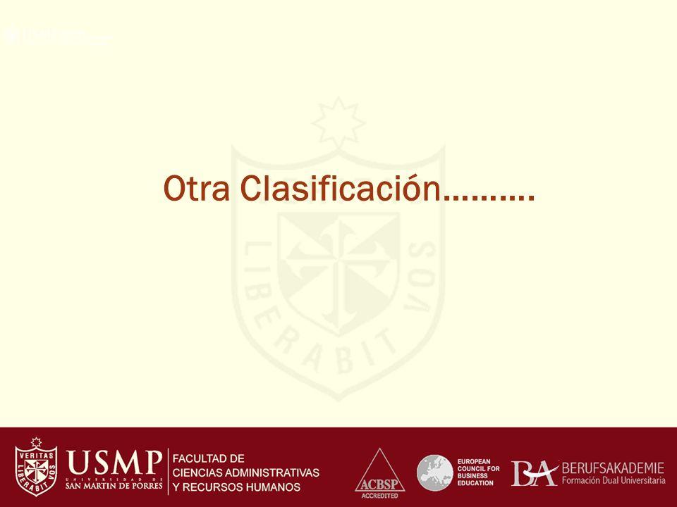 Otra Clasificación……….