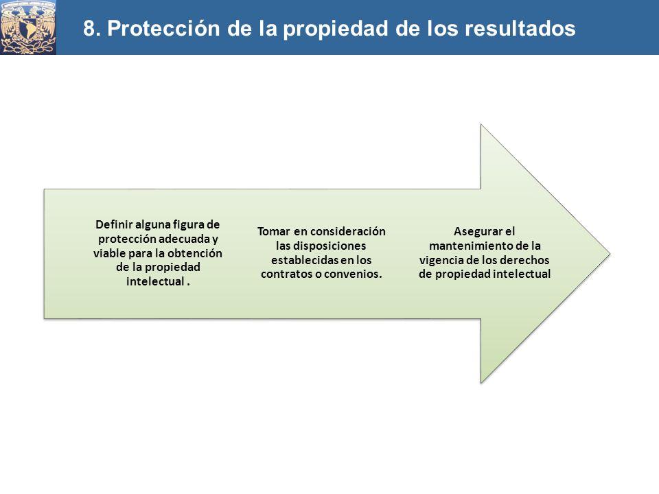 Asegurar el mantenimiento de la vigencia de los derechos de propiedad intelectual Tomar en consideración las disposiciones establecidas en los contrat