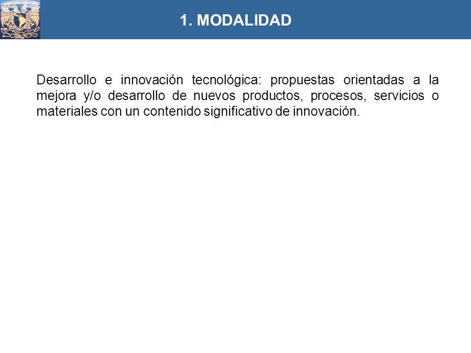 Desarrollo e innovación tecnológica: propuestas orientadas a la mejora y/o desarrollo de nuevos productos, procesos, servicios o materiales con un con