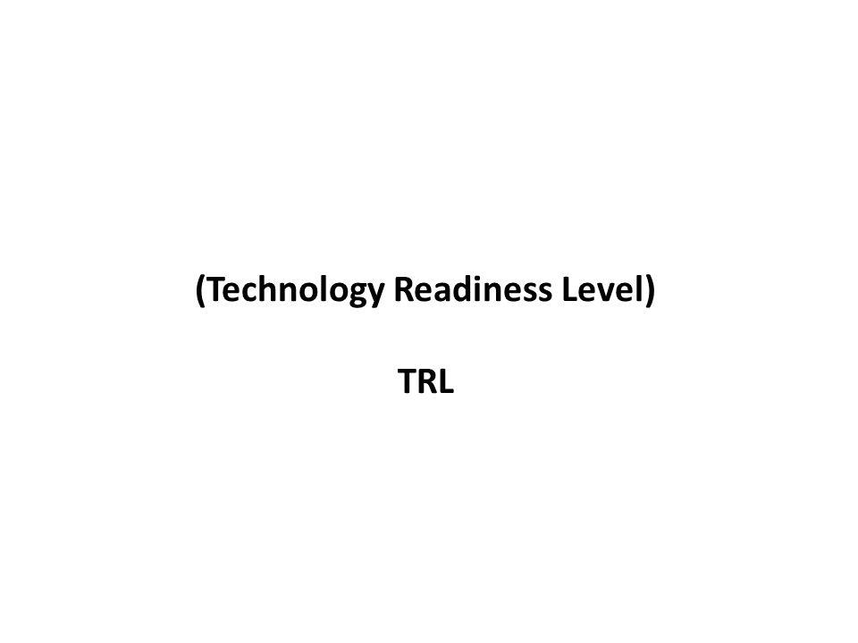 Niveles de desarrollo de tecnología (Technology Readiness Level) TRL