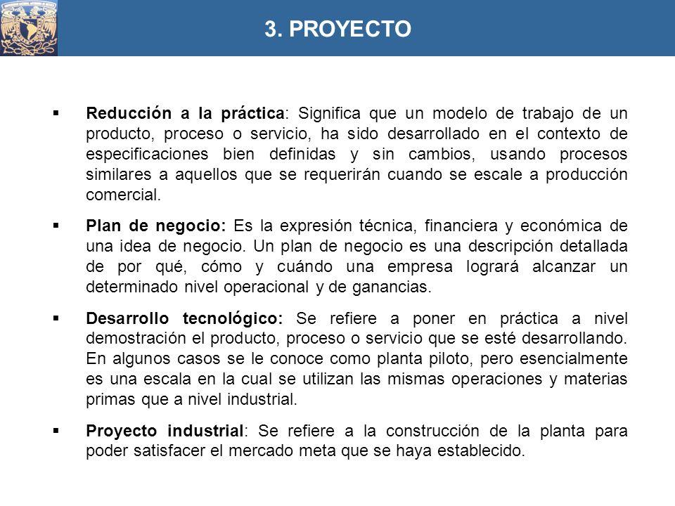 Reducción a la práctica: Significa que un modelo de trabajo de un producto, proceso o servicio, ha sido desarrollado en el contexto de especificacione
