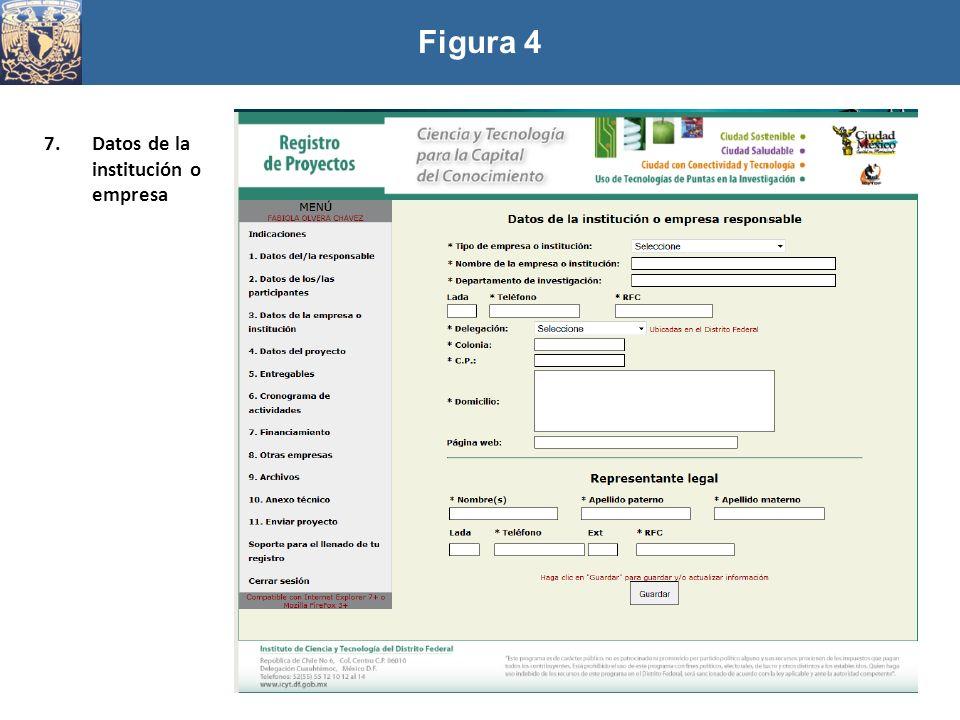 Figura 4 7.Datos de la institución o empresa