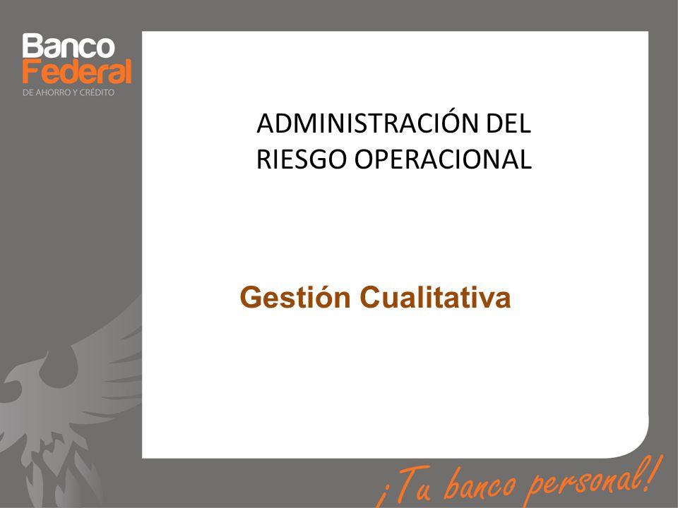 ADMINISTRACIÓN DEL RIESGO OPERACIONAL Gestión Cualitativa