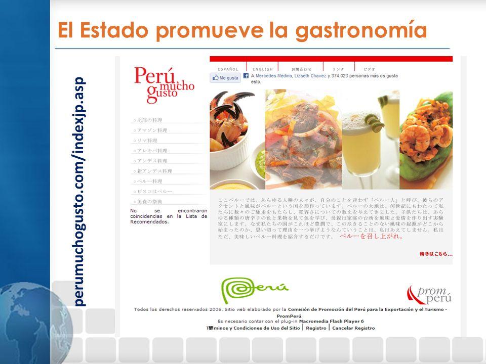 _________________________________________________________________ perumuchogusto.com/indexjp.asp El Estado promueve la gastronomía