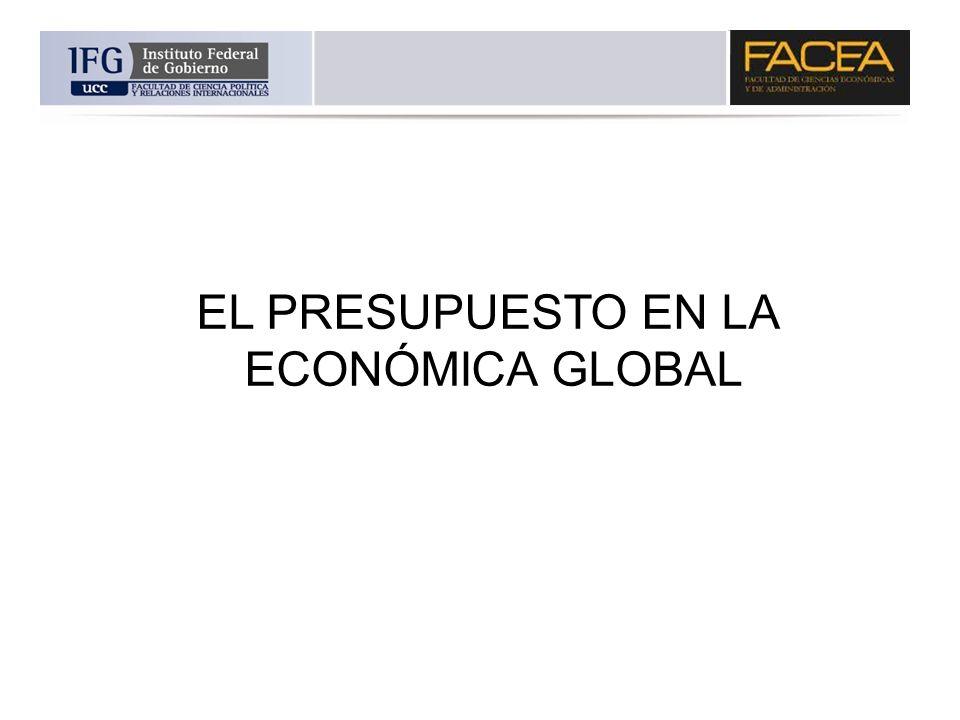 EL PRESUPUESTO EN LA ECONÓMICA GLOBAL