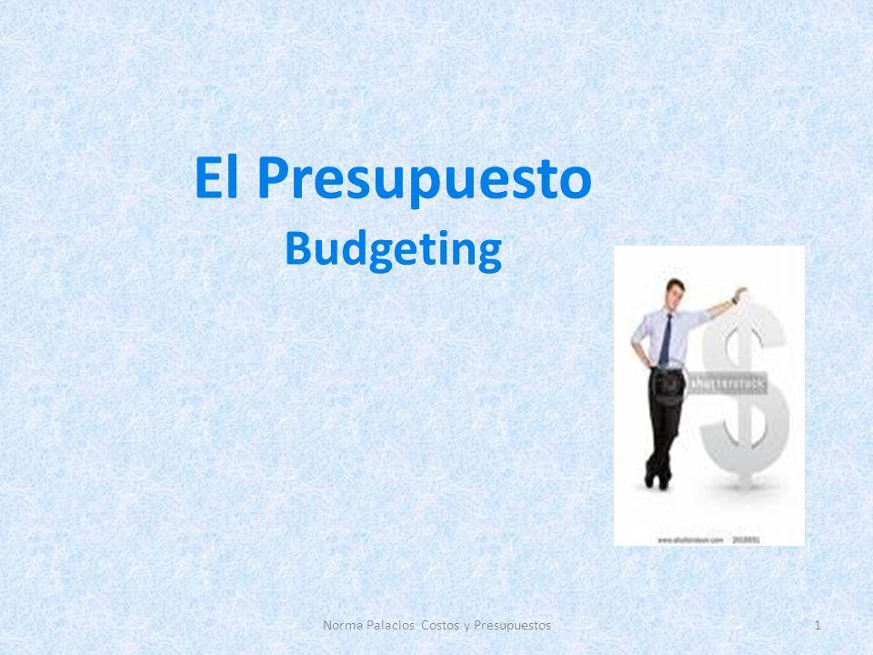 El Presupuesto Budgeting 1Norma Palacios Costos y Presupuestos
