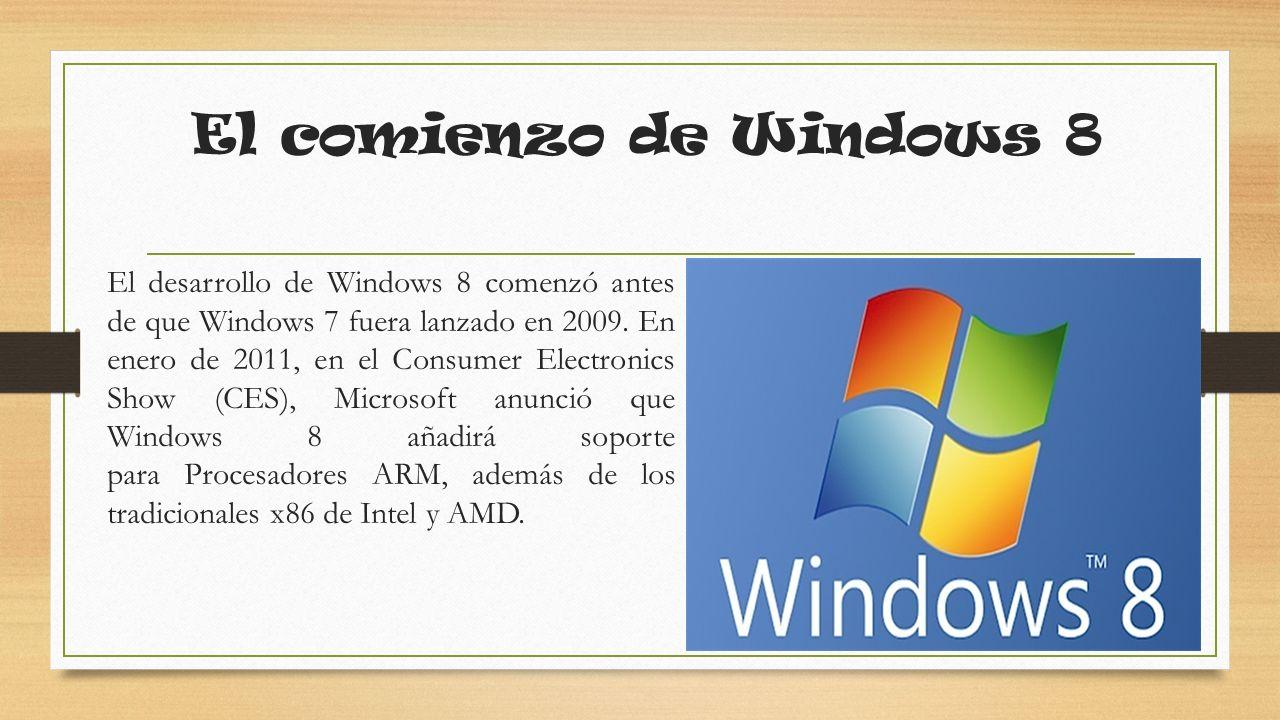 Fecha importante de Windows El 1 de junio de 2011, Microsoft desveló oficialmente la interfaz de Windows 8 además de características nuevas en la Taipéi Computex 2011 en Taipéi (Taiwán) por Mike Anguilo y en la D9 conference en California (Estados Unidos) por Julie Larson-Green y el presidente de Microsoft Windows Steven Sinofsky.
