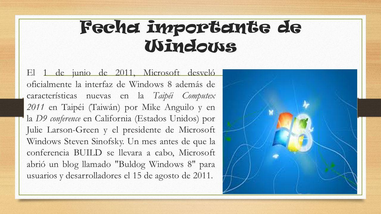 Información b asicas Windows 8