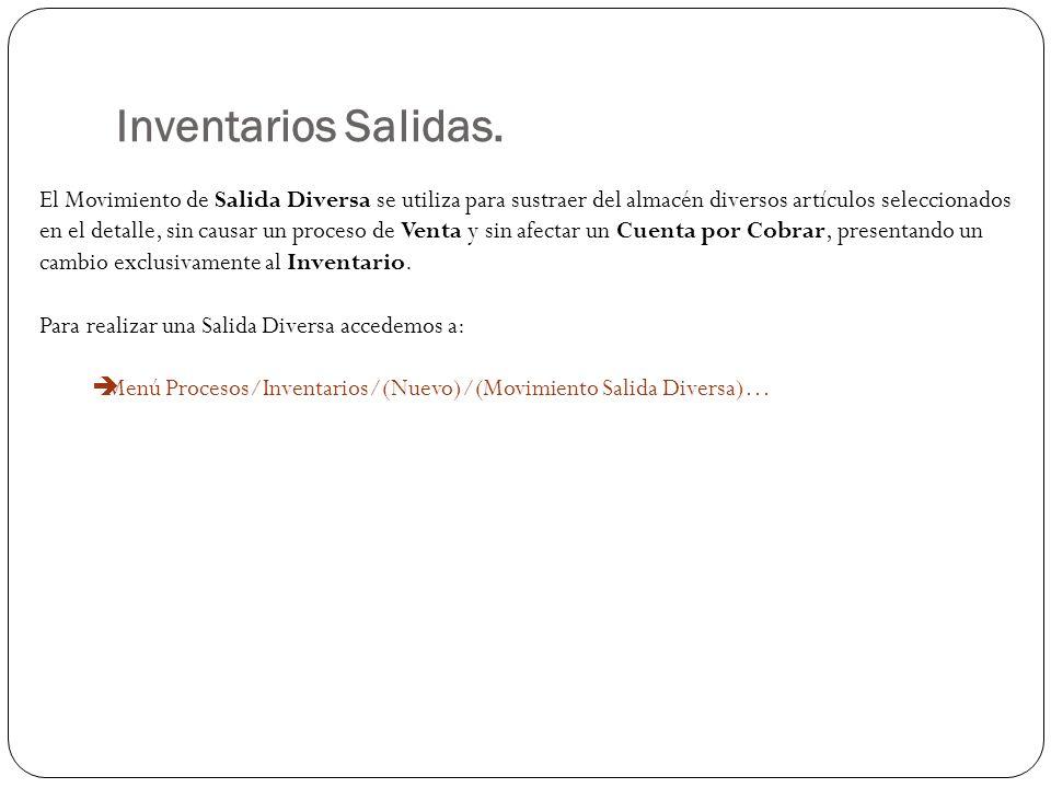 Inventarios Salidas.