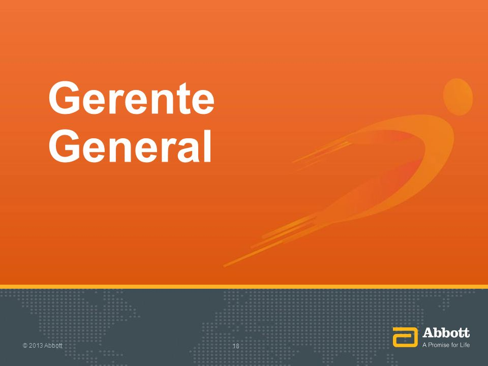 Gerente General © 2013 Abbott 18