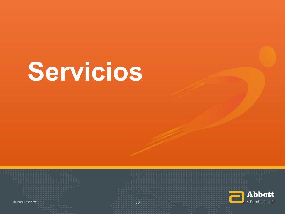 Servicios © 2013 Abbott 26