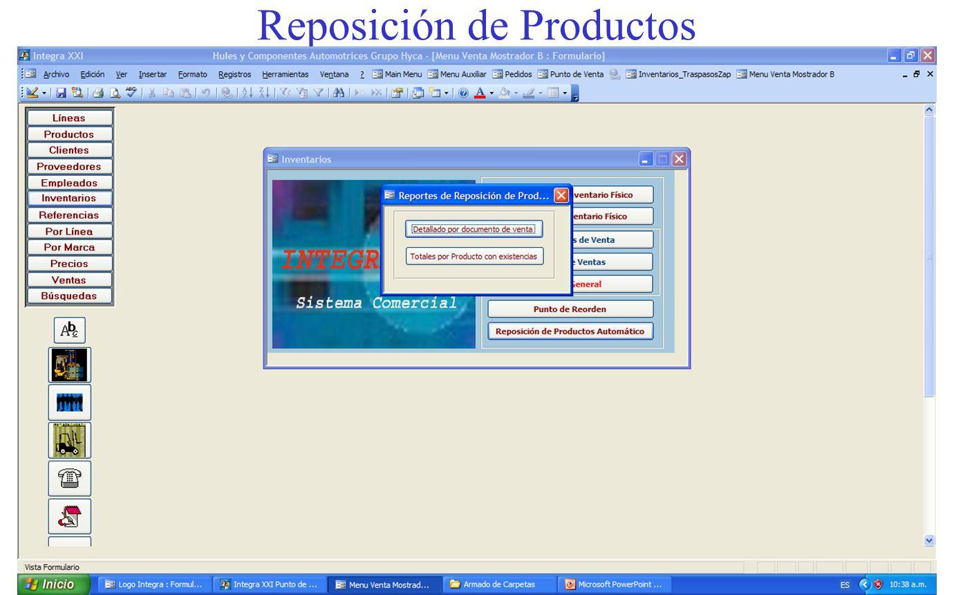 Reposición de Productos