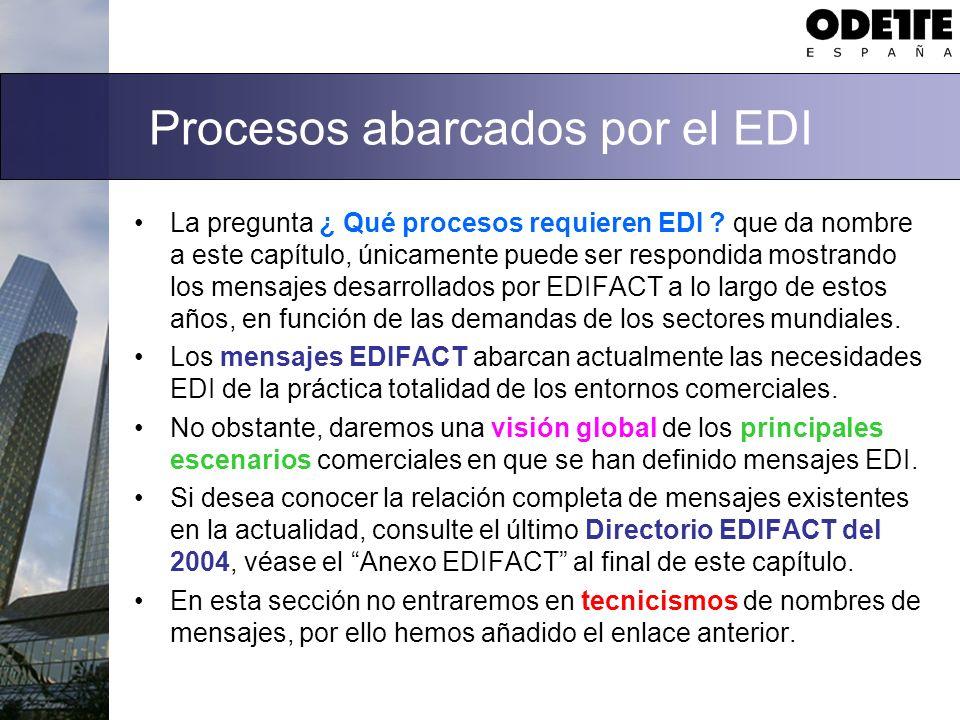 Procesos abarcados por el EDI La pregunta ¿ Qué procesos requieren EDI ? que da nombre a este capítulo, únicamente puede ser respondida mostrando los