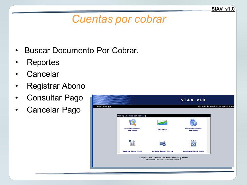 Buscar Documento Por Cobrar.