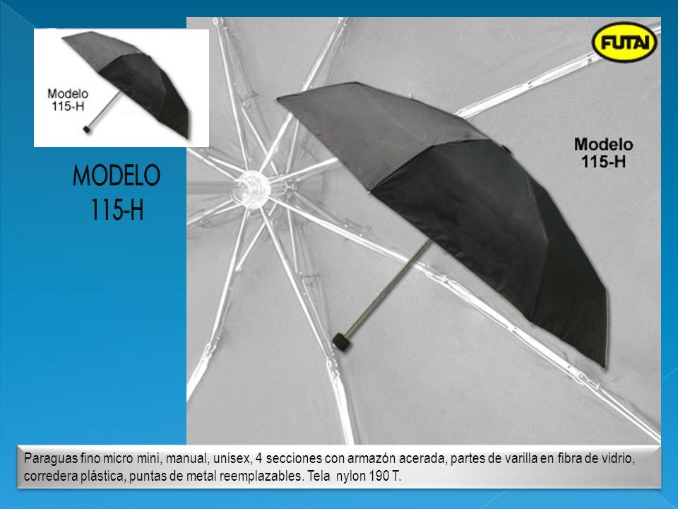 Paraguas fino micro mini, manual, unisex, 4 secciones con armazón acerada, partes de varilla en fibra de vidrio, corredera plástica, puntas de metal r