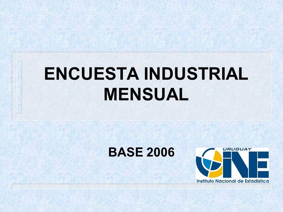 ENCUESTA INDUSTRIAL MENSUAL BASE 2006