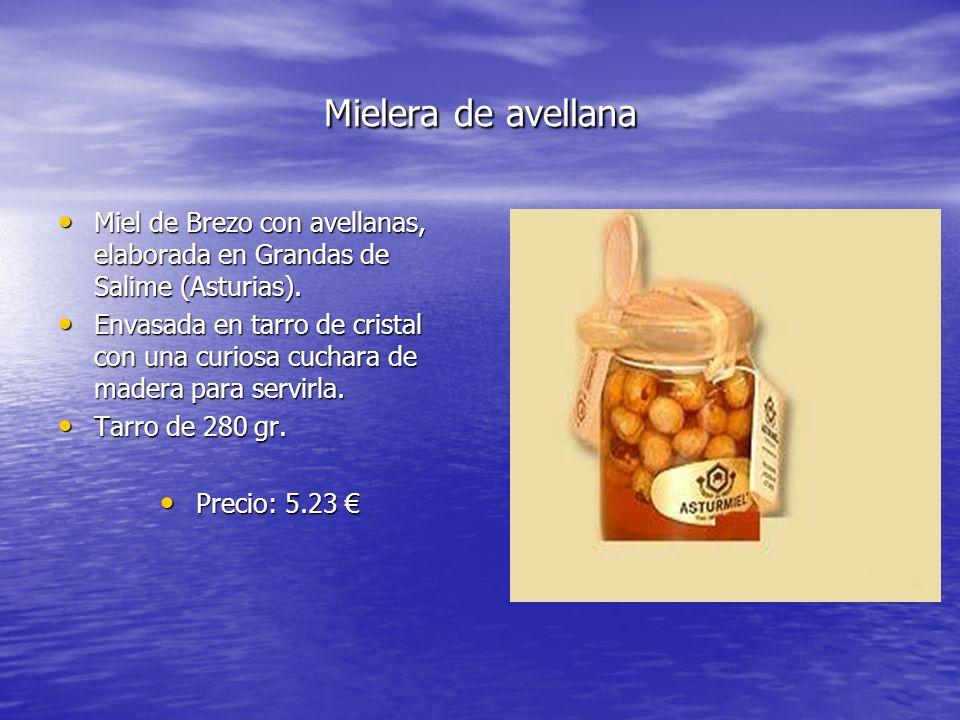 Mielera de avellana Miel de Brezo con avellanas, elaborada en Grandas de Salime (Asturias). Miel de Brezo con avellanas, elaborada en Grandas de Salim