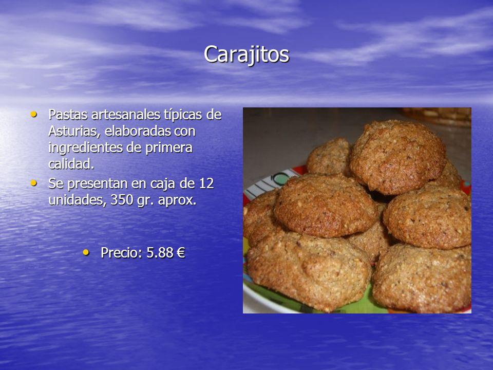 Carajitos Pastas artesanales típicas de Asturias, elaboradas con ingredientes de primera calidad. Pastas artesanales típicas de Asturias, elaboradas c