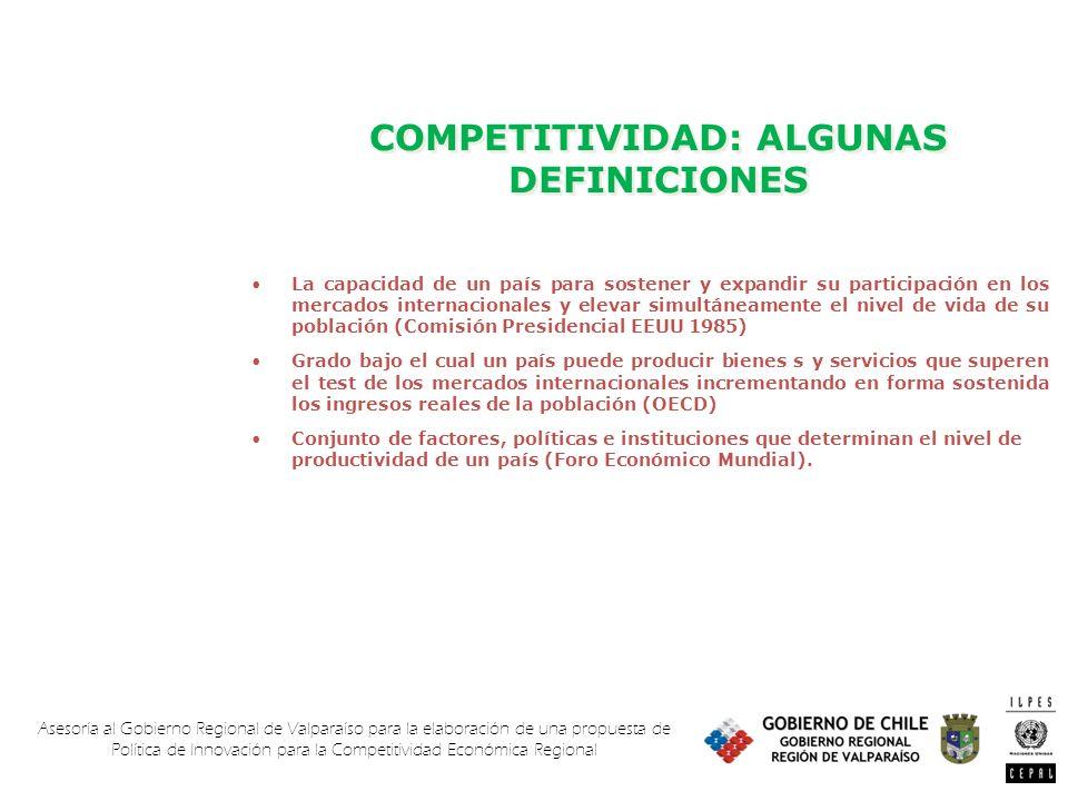 Asesoría al Gobierno Regional de Valparaíso para la elaboración de una propuesta de Política de Innovación para la Competitividad Económica Regional C