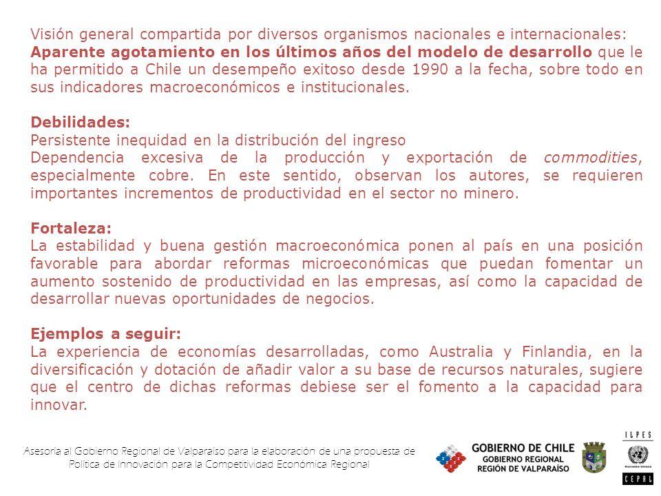 Asesoría al Gobierno Regional de Valparaíso para la elaboración de una propuesta de Política de Innovación para la Competitividad Económica Regional V