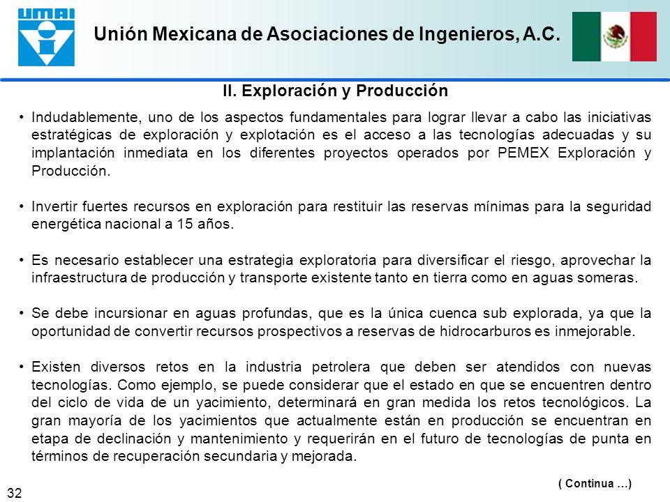 Unión Mexicana de Asociaciones de Ingenieros, A.C. 32 Indudablemente, uno de los aspectos fundamentales para lograr llevar a cabo las iniciativas estr