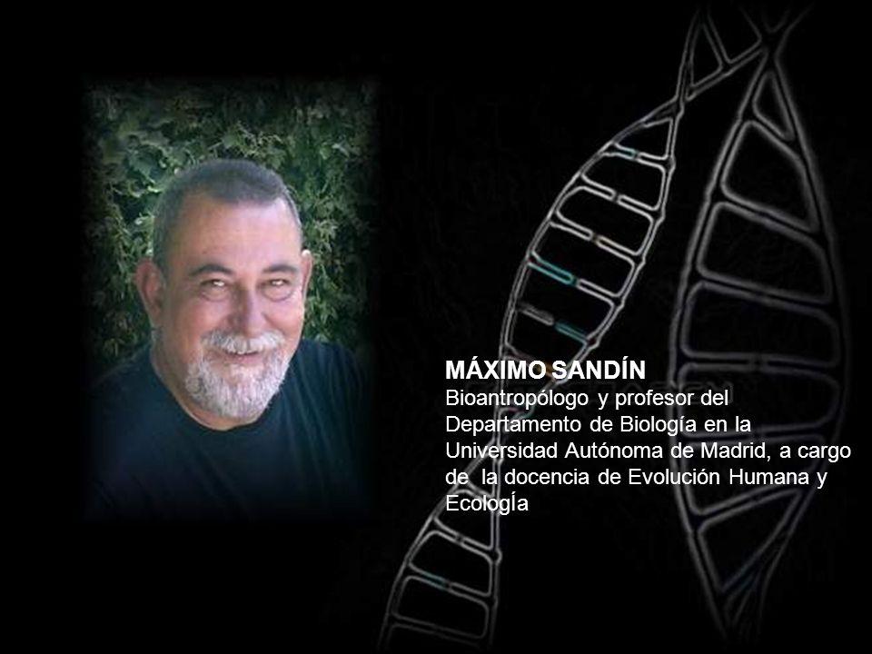 MÁXIMO SANDÍN Bioantropólogo y profesor del Departamento de Biología en la Universidad Autónoma de Madrid, a cargo de la docencia de Evolución Humana y EcologÍa