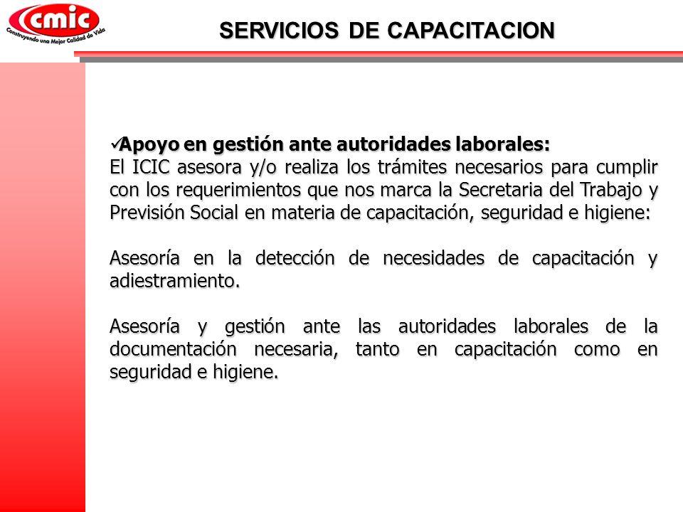 Apoyo en gestión ante autoridades laborales: Apoyo en gestión ante autoridades laborales: El ICIC asesora y/o realiza los trámites necesarios para cum