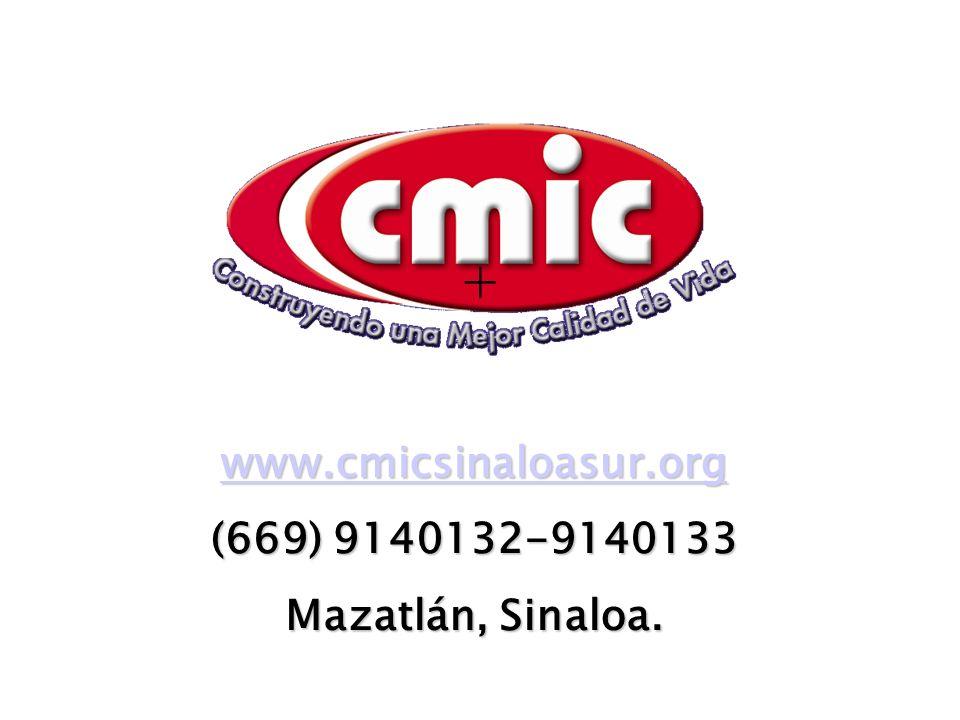 www.cmicsinaloasur.org (669) 9140132-9140133 Mazatlán, Sinaloa. +