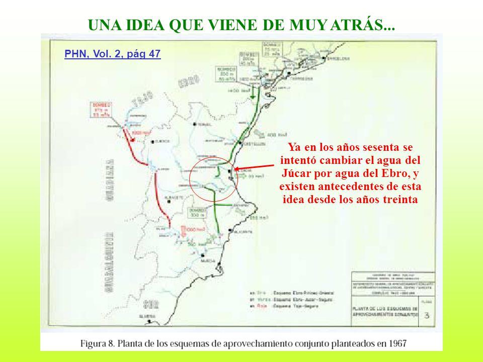 10 UNA IDEA QUE VIENE DE MUY ATRÁS... Ya en los años sesenta se intentó cambiar el agua del Júcar por agua del Ebro, y existen antecedentes de esta id