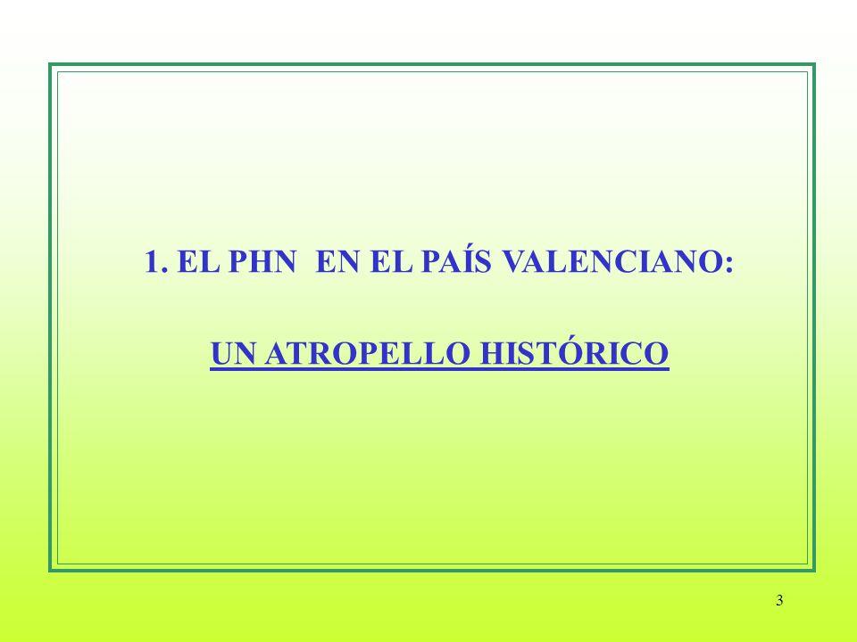 3 1. EL PHN EN EL PAÍS VALENCIANO: UN ATROPELLO HISTÓRICO