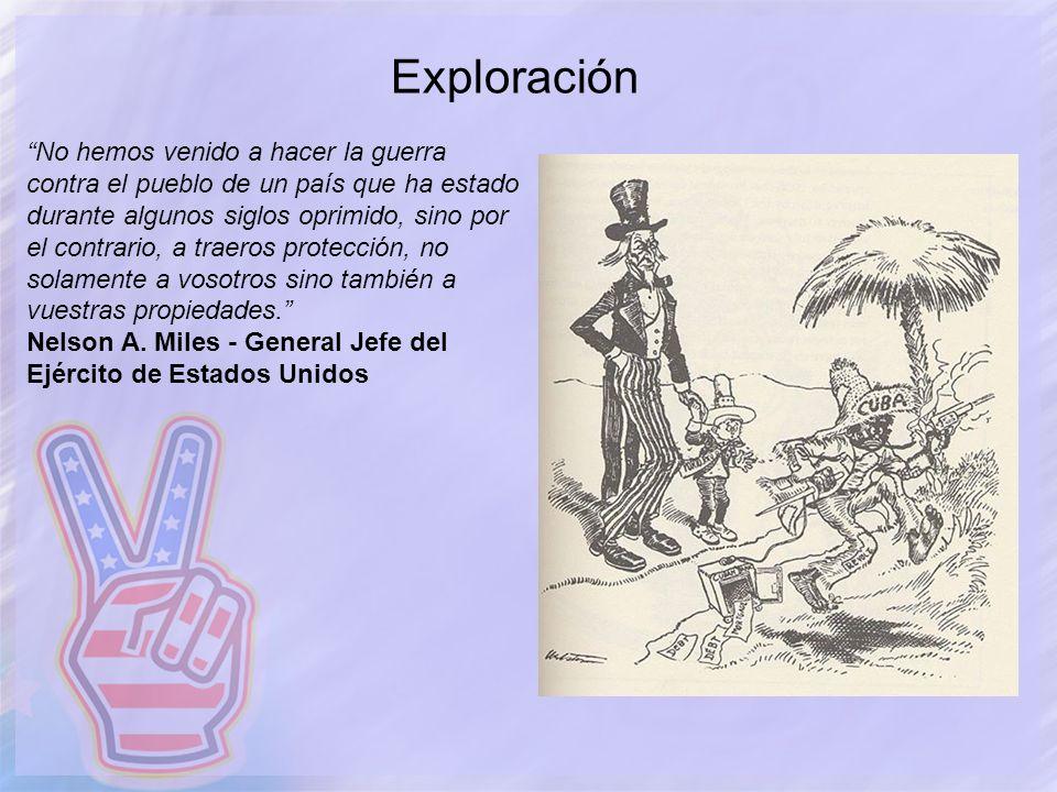 Exploración No hemos venido a hacer la guerra contra el pueblo de un país que ha estado durante algunos siglos oprimido, sino por el contrario, a trae