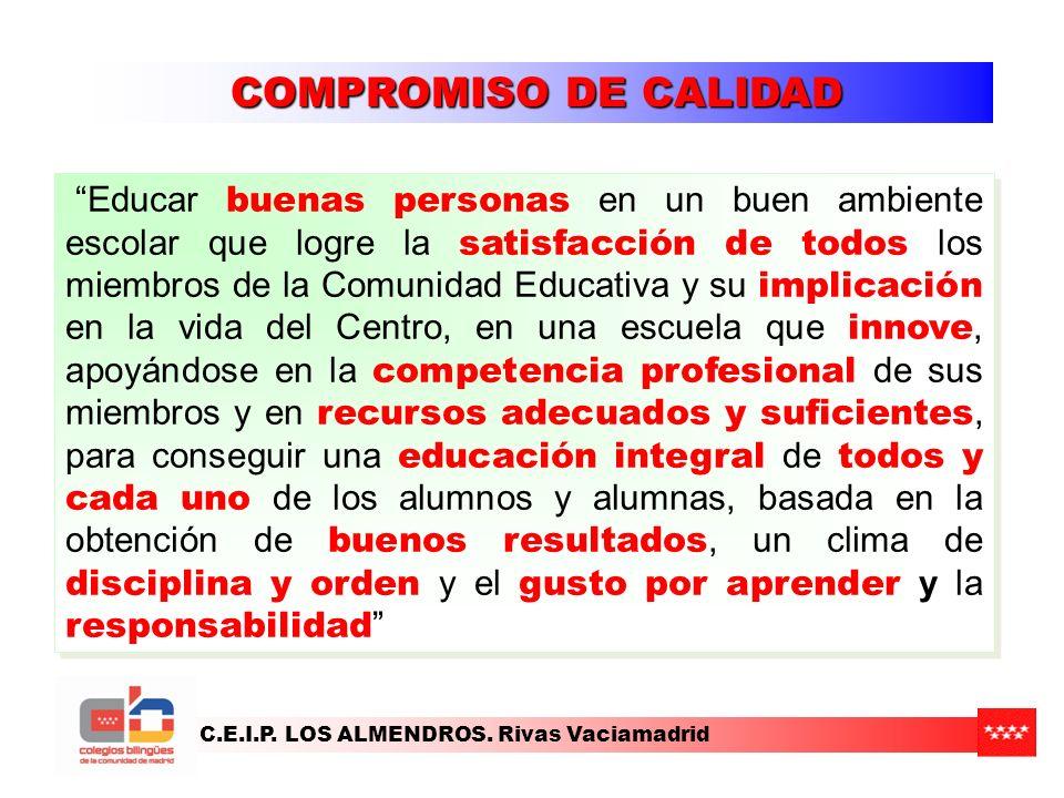 C.E.I.P.LOS ALMENDROS. Rivas Vaciamadrid ESCOLARIZACIÓN 2012/2013.