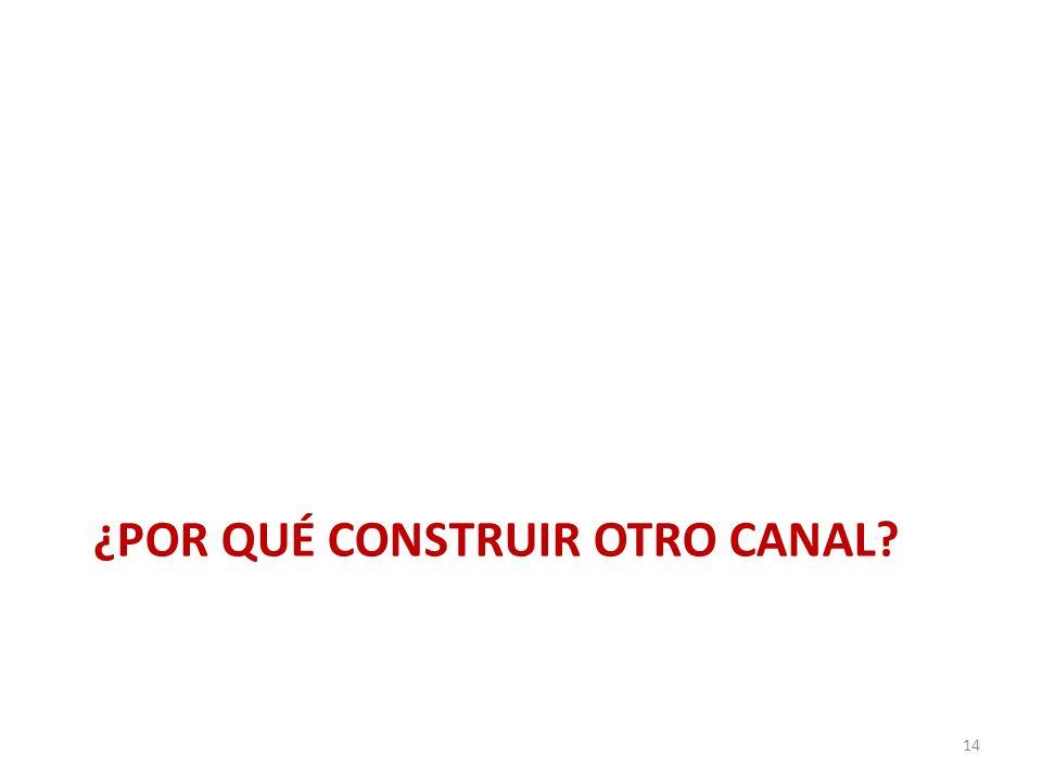 ¿POR QUÉ CONSTRUIR OTRO CANAL? 14