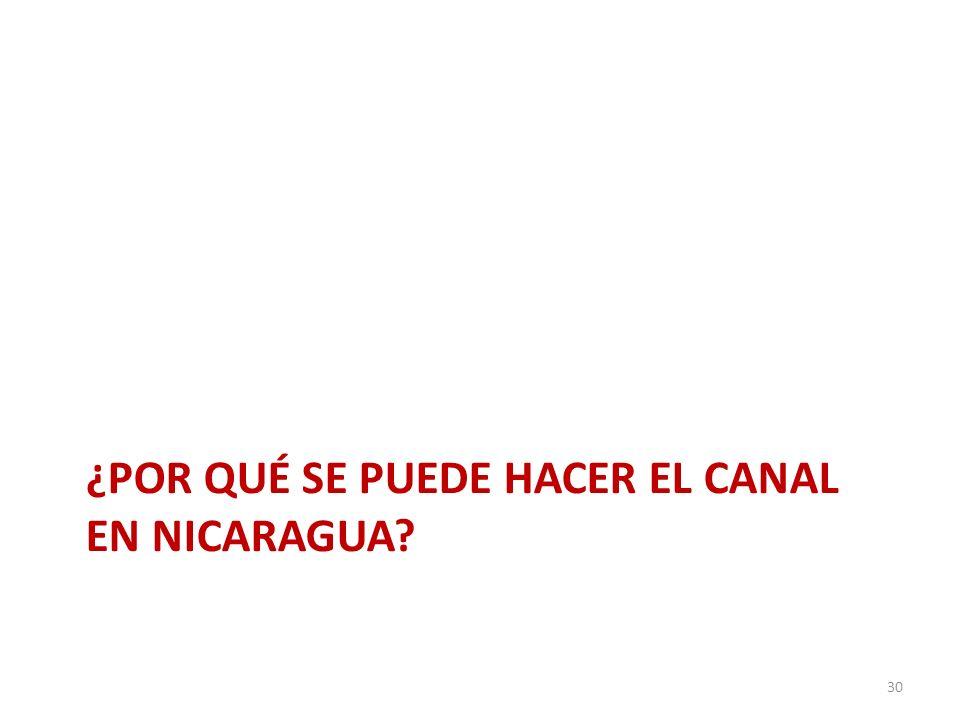 ¿POR QUÉ SE PUEDE HACER EL CANAL EN NICARAGUA? 30