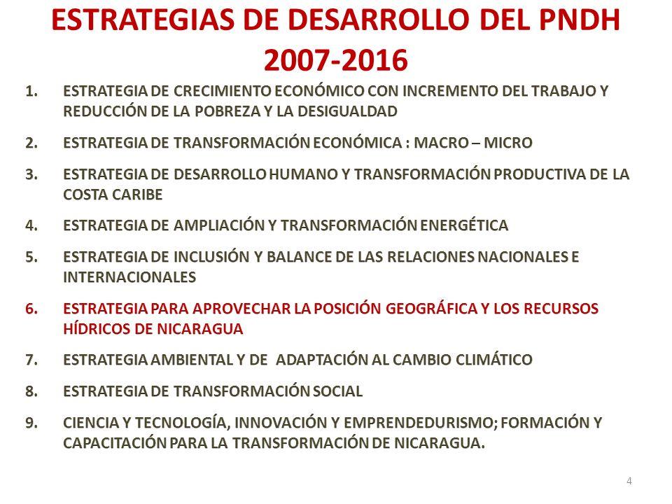 ESTRATEGIAS DE DESARROLLO DEL PNDH 2007-2016 4