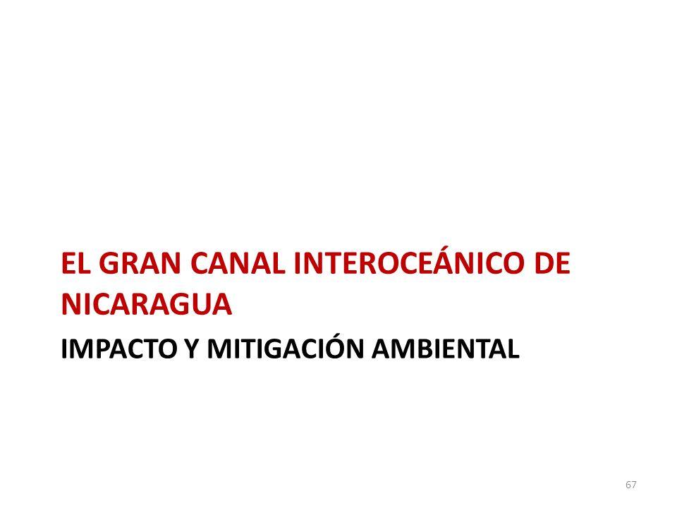 IMPACTO Y MITIGACIÓN AMBIENTAL EL GRAN CANAL INTEROCEÁNICO DE NICARAGUA 67