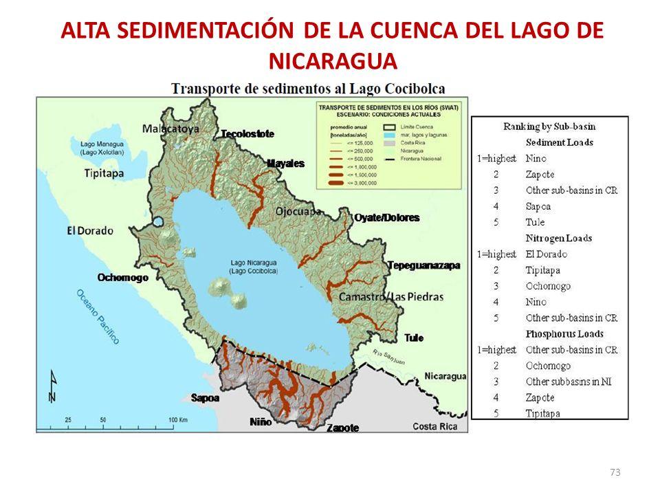 ALTA SEDIMENTACIÓN DE LA CUENCA DEL LAGO DE NICARAGUA 73
