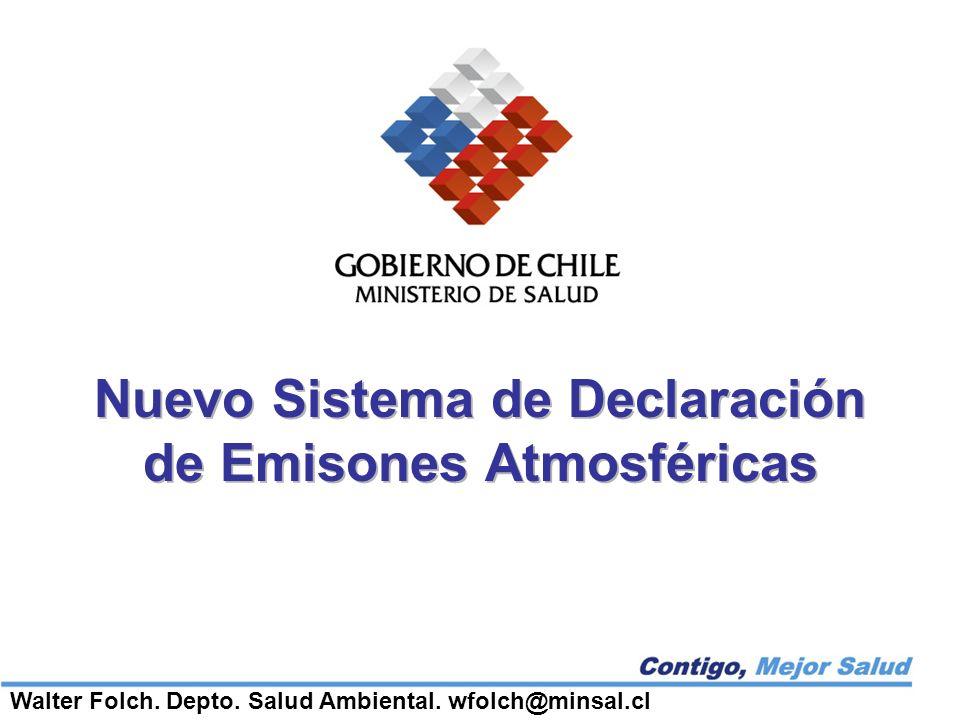 Nuevo Sistema de Declaración de Emisones Atmosféricas Walter Folch.