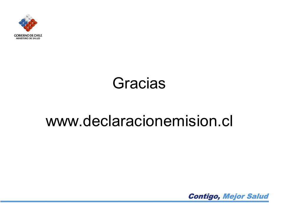 Gracias www.declaracionemision.cl