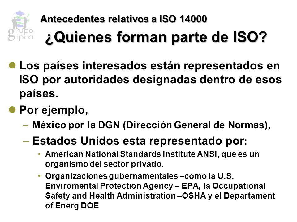 Antecedentes relativos a ISO 14000 ¿Qué son las normas ISO.