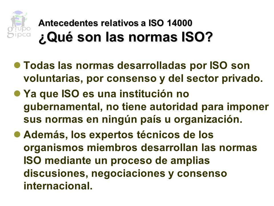 El Desarrollo de Normas Administrativas Organizacionales Durante la década de 1980, ISO emprendió la tarea de estandarizar un aspecto de administración organizacional –la administración de calidad.