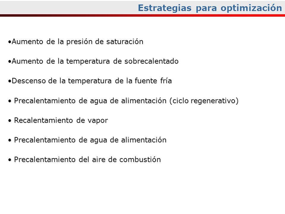 Aumento de la presión de saturaciónAumento de la presión de saturación Aumento de la temperatura de sobrecalentadoAumento de la temperatura de sobreca