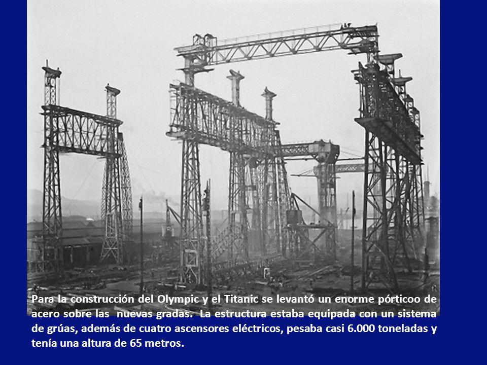 El 31 de Julio de 1908 se firmó el contrato para la construcción, en los astilleros de Belfast, del Olympic, el Titanic y un tercer barco, el Britannic, que se agregó luego.