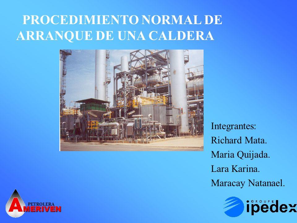 PETROLERA MERIVEN SISTEMAS DE SOPORTE PARA EL ARRANQUE DE LA CALDERA Sistema de Aire para Instrumentacion.