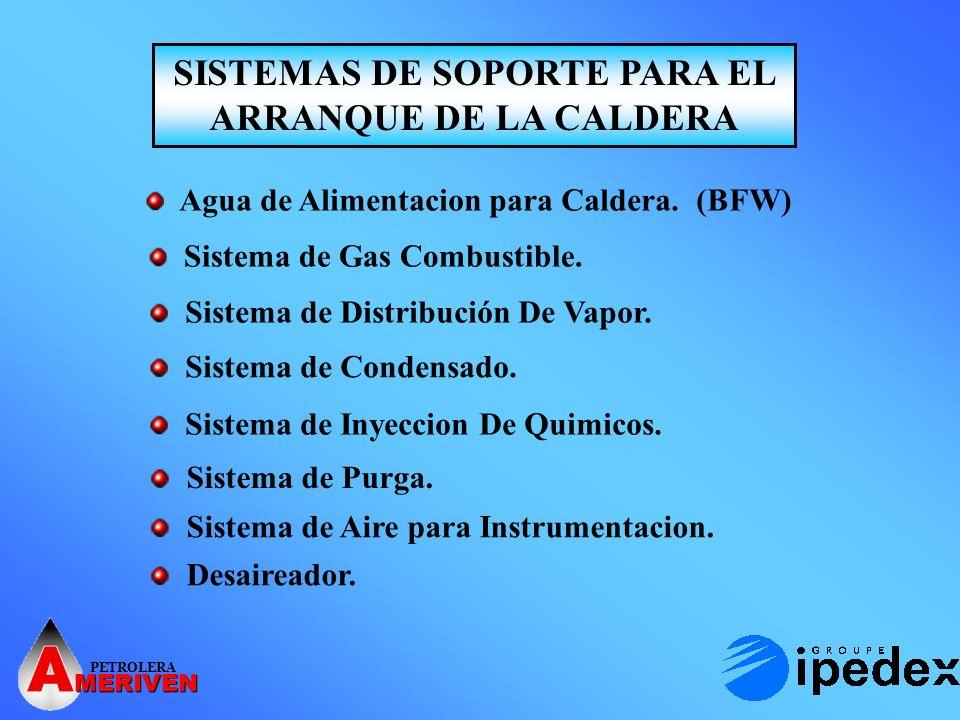 PETROLERA MERIVEN PRELIMINARES PARA EL ARRANQUE DE LA CALDERA Verificar Sistema de tubería y accesorios.