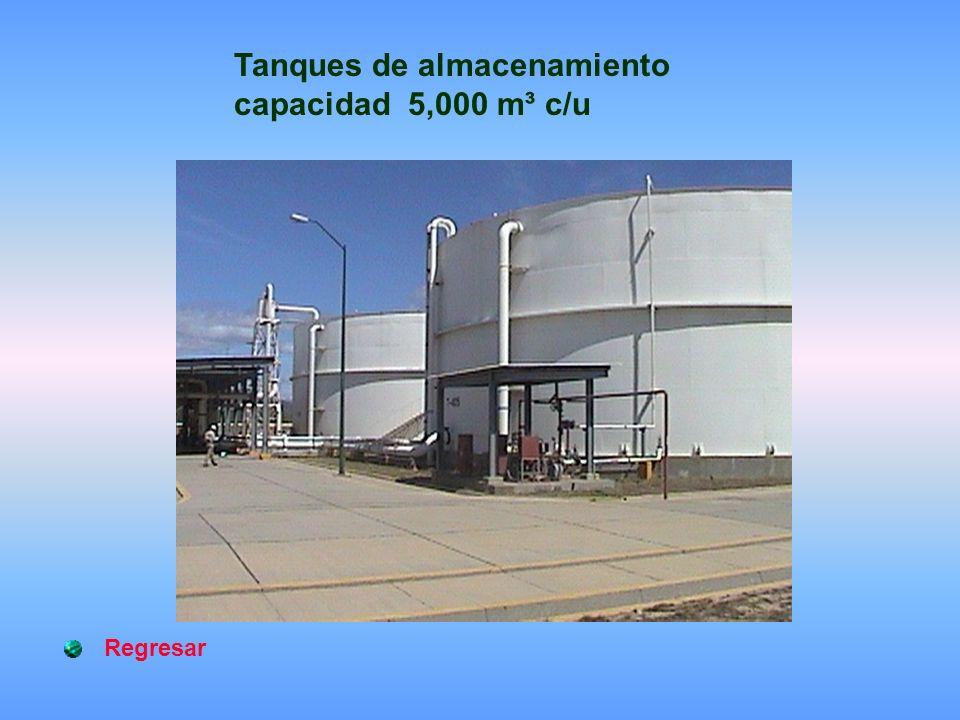Regresar Tanques de almacenamiento capacidad 5,000 m³ c/u