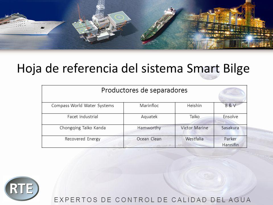 EXPERTOS DE CONTROL DE CALIDAD DEL AGUA Hoja de referencia del sistema Smart Bilge Productores de separadores Compass World Water SystemsMarinflocHeis